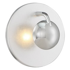 Arnsberg Aurora Silver / Chrome LED Sconce