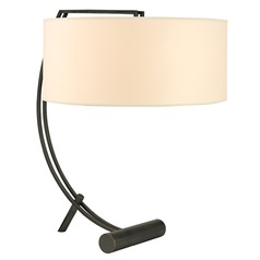 Deyo 2 Light Table Lamp Drum Shade - Old Bronze