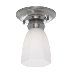 Norwell Lighting Mercer Brush Nickel Semi-Flushmount Light