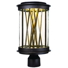 Maxim Lighting International Bedazzle Galaxy Bronze, French Gold LED Post Light