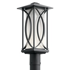 Kichler Lighting Ashbern Textured Black LED Post Light 312LM 3000K