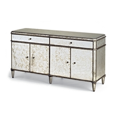 Currey and Company Lighting Credenza in Antique Mirror Finish 4208