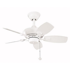 Kichler Lighting Kichler 30-Inch Ceiling Fan with Five Blades 300103WH