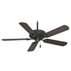 Ceiling Fan without Light in Basque Black Finish