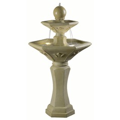 Kenroy Home Provence Dark Travertine LED Outdoor Fountain
