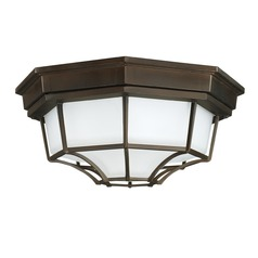 Capital Lighting Outdoor Old Bronze Close To Ceiling Light