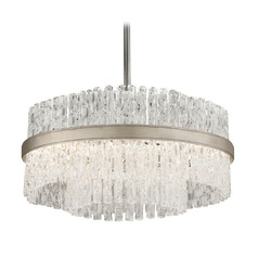 Corbett Lighting Chime Silver Leaf with Polished Stainless Accents Pendant Light