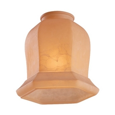 Tea Stain Bell Glass Shade - 2-1/4-Inch Fitter Opening