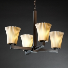 Justice Design Limoges 4-Light Chandelier in Dark Bronze