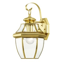 Livex Lighting Monterey Polished Brass Outdoor Wall Light