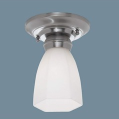 Norwell Lighting Mercer Polished Nickel Semi-Flushmount Light