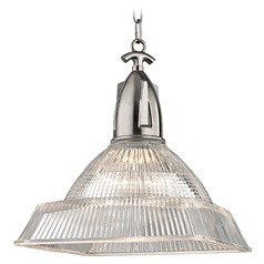 Langdon 1 Light Pendant Light Square Shade - Historic Nickel