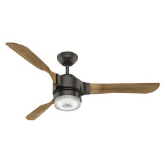 Hunter Fan Company Apache Noble Bronze LED Ceiling Fan with Light