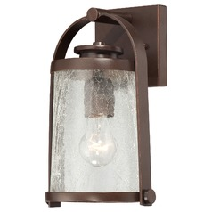 Minka Lighting Travessa Architectual Bronze with Copper Outdoor Wall Light