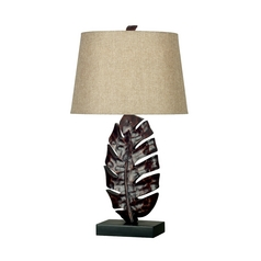 Table Lamp in Mottled Bronze Finish