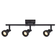 Track Light with 3 Spot Lights - Bronze - GU10 Base