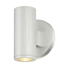LED Cylinder Outdoor Wall Light Brushed Aluminum 3000K