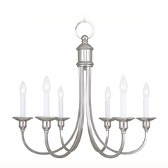 Livex Lighting Cranford Polished Nickel Chandelier