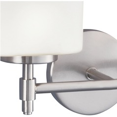 Norwell Lighting Moderne Brush Nickel Sconce