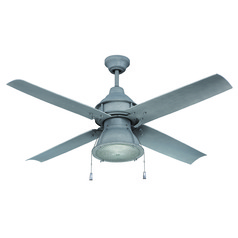 Craftmade Lighting Port Arbor Aged Galvanized Ceiling Fan with Light