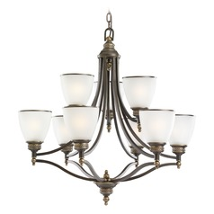 Sea Gull Lighting Laurel Leaf Estate Bronze LED Chandelier