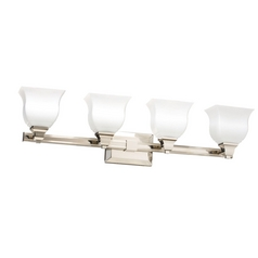 Kichler Bathroom Light in Polished Nickel Finish