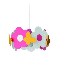 Philips Lighting Pendant Light with Multi-Color Shade in Multi Color Finish 401785548