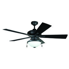 Craftmade Lighting Riverfront Aged Bronze Brushed Ceiling Fan with Light