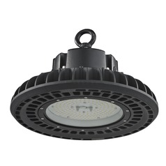 UFO LED High Bay Light Black 150-Watt 120v-277v 20960 Lumens 5000K 120 Degree Beam Spread