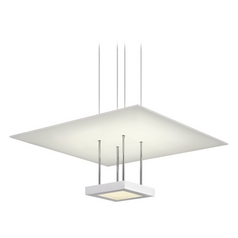 Sonneman Lighting Chromaglo Satin White LED Pendant Light