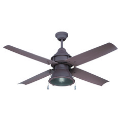 Craftmade Lighting Port Arbor Rustic Iron Ceiling Fan with Light