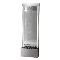 Kenroy Home Glissade Stainless Steel with Mirror Face Indoor Fountain