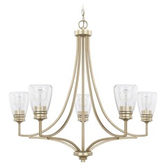 Homeplace By Capital Lighting Newbury Winter Gold Chandelier