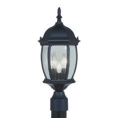 Livex Lighting Kingston Black Post Light