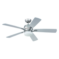 Craftmade Lighting Pulsar Stainless Steel Ceiling Fan with Light