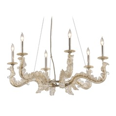Corbett Lighting Cielo Silver Leaf Chandelier