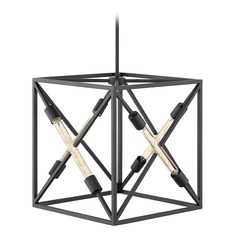 Hinkley Lighting Hewitt Satin Black Pendant Light