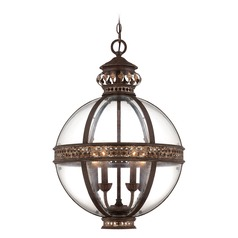 Savoy House Lighting Fiesta Bronze Pendant Light with Globe Shade