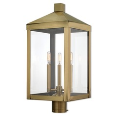 Livex Lighting Nyack Antique Brass Post Light