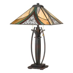 Tiffany Table Lamp Bronze Tiffany by Quoizel Lighting