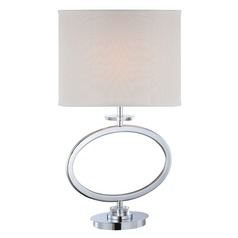 Lite Source Renia Chrome Table Lamp with Oval Shade
