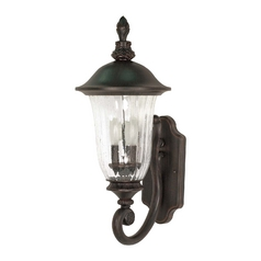Outdoor Wall Light with Clear Glass in Old Penny Bronze Finish
