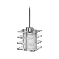 Frederick Ramond Luxe Chrome Mini-Pendant Light with Cylindrical Shade