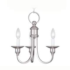 Livex Lighting Cranford Polished Nickel Mini-Chandelier