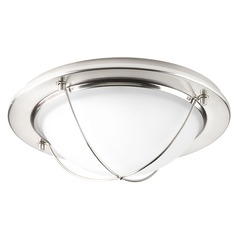 Progress Lighting Portal LED Brushed Nickel LED Flushmount Light