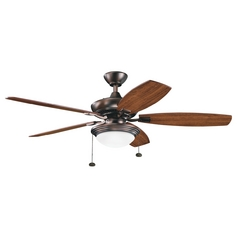 Kichler Ceiling Fan with Light Kit in Oil Brushed Bronze Finish