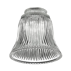 Monte Carlo Fans Clear Fluted Glass Shade - 2-1/4-Inch Fitter Opening G885