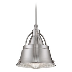 Farmhouse Mini-Pendant Light Brushed Nickel Cody by Quoizel Lighting