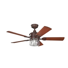 Kichler Lighting Kichler Lighting Lyndon Tannery Bronze Ceiling Fan with Light 300120TZ