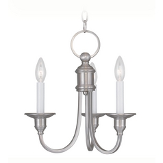 Livex Lighting Cranford Brushed Nickel Mini-Chandelier